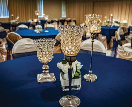Christopher Hall Events - Wedding - Royal Blue Tables